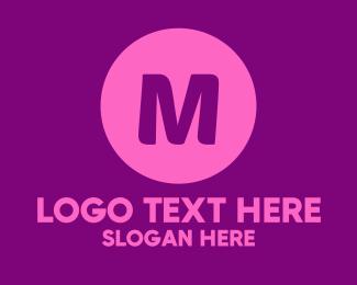 Letttermark - Purple Circle Lettermark logo design