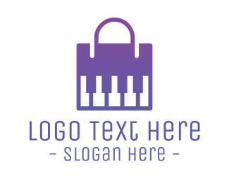 Outlet Store - Modern Piano Bag logo design