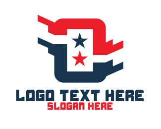 Computer Programmer - American Tech Letter O logo design