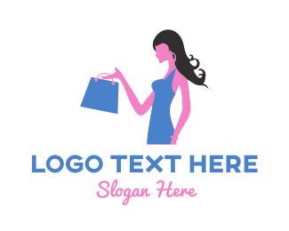 Shopify - Shopping Girl Fashion Vlog logo design