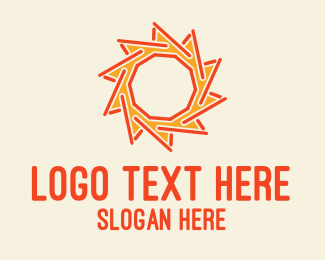 Heating - Sun Stick logo design