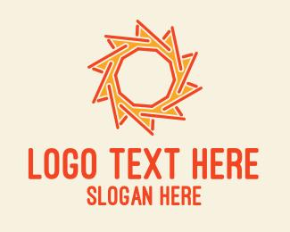 Stick - Sun Stick logo design