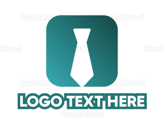 Coat - Tie App logo design