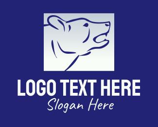 Grizzly - Gradient Polar Bear logo design
