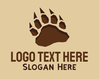 Excavation - Wild Paw Print logo design