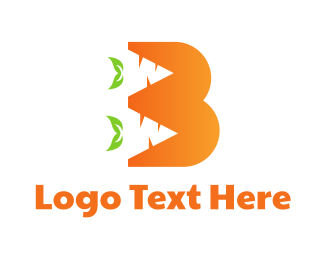Orange Vegetable - Orange B Carrot logo design