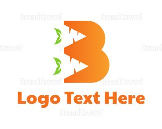 Carrot - Orange B Carrot logo design
