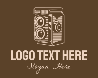 Nostalgia - Brown Vintage Old Camera logo design