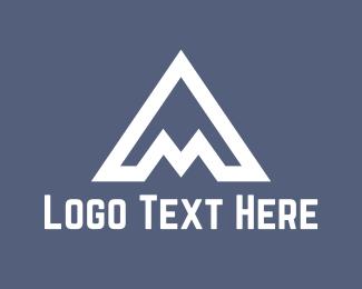 Symbol - White A Mountain logo design