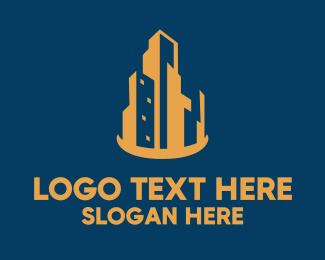 Estate - Metropolis Skyline Real Estate logo design