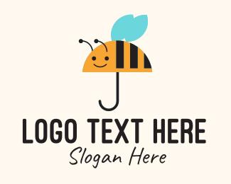 Umbrella - Bee Umbrella logo design