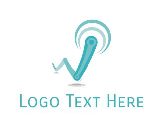 Antenna - Blue Antenna logo design