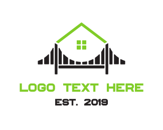 Contractor - House & Bridge logo design