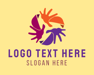 Movement - Colorful Recycling Hands logo design