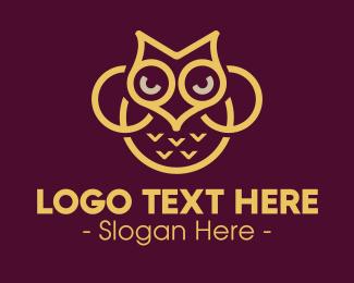 Owl - Elegant Owl logo design