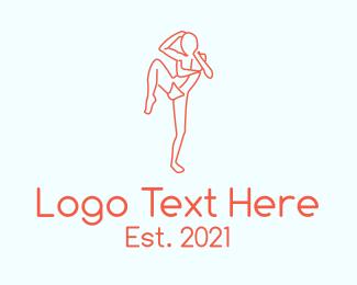 Mma - Martial Arts Fighter logo design