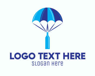 Beer Bottle - Blue Bottle Delivery logo design