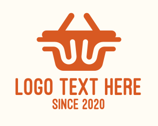 Basket - Orange Shopping Basket logo design