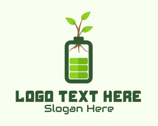 Loading - Eco Charging Battery logo design