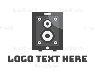 Music Equipment - App Speaker logo design