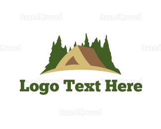 """Brown Tent"" by LogoPick"