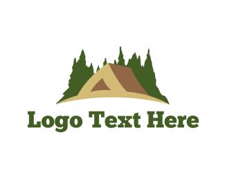 Outdoors - Brown Tent logo design