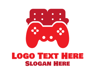 Couch - Red Couch Gaming logo design