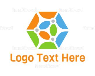 Shape - Colorful Hexagon Shape logo design