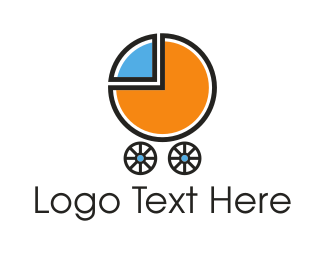Carriage - Baby Chart logo design