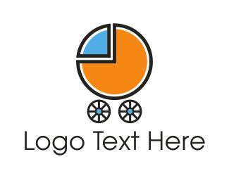Pram - Baby Chart logo design