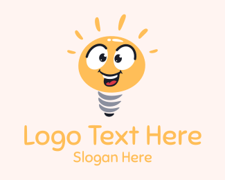 Joyful - Bright Light Bulb Mascot logo design