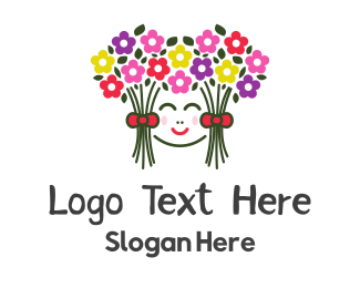 Flowers - Bouquet Hair logo design