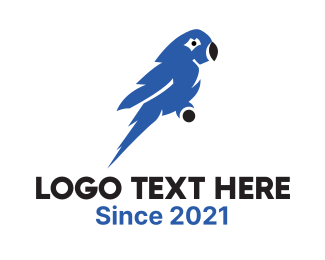 Air Travel - Blue Macaw  logo design