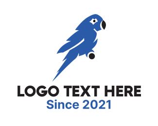 Aviary - Blue Macaw  logo design