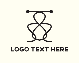 Grasshopper - Abstract Insect logo design