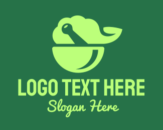 Food Preparation - Green Natural Herbal Pharmacy logo design