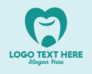 Orthodontics - Tooth Heart Dentist logo design