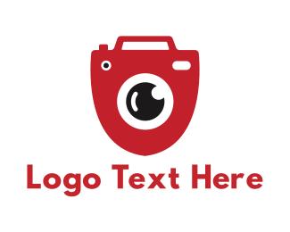 Spy - Shield Red Cam logo design