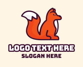 White Puppy - Orange White Fox logo design