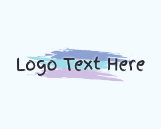 Text Logo - Finger Painting Wordmark logo design