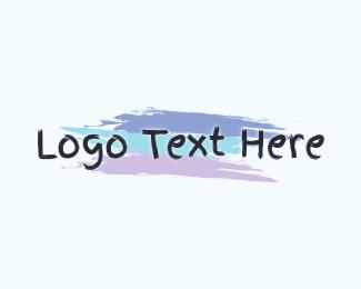 Paint - Finger Painting Wordmark logo design