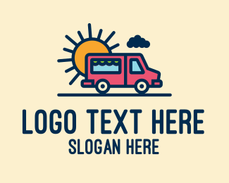 Vendor - Cute Van Truck logo design