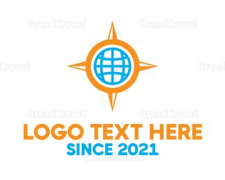 Satellite - Altas Compass logo design