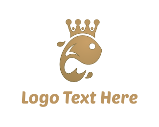 Gold Fish - King Fish logo design