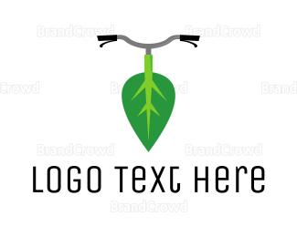 Biker - Leaf Bike logo design