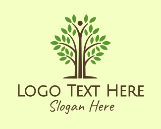 Environmentalist - Thin Tall Tree logo design