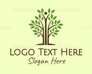 Environmental - Thin Tall Tree logo design