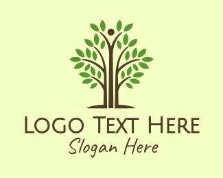 Bush - Tall Support Tree logo design