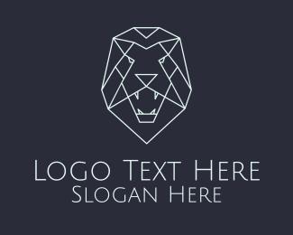 White Lion Head Logo