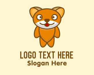 Plushy - Cute Teddy Bear logo design